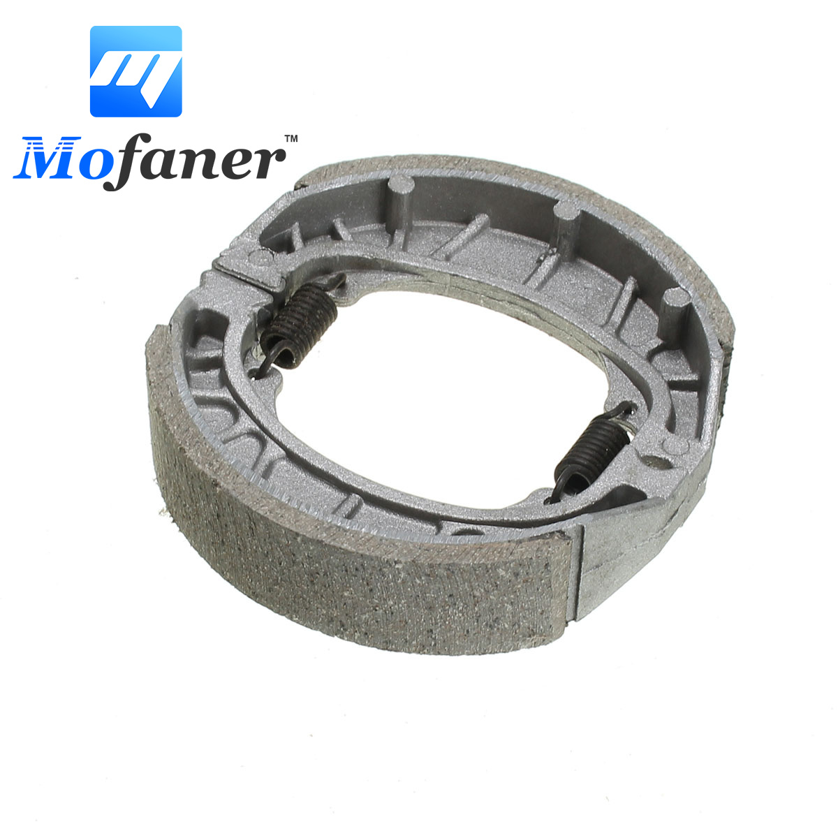 105mm Motorcycle Brake Pads Shoe Rear For GY6 50cc 110cc 125cc 150cc Scooter BRAK-0003 Sliver brake shoe