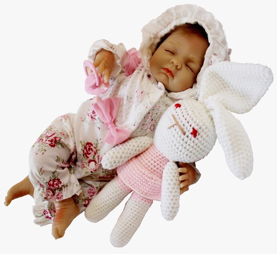купить New Hot 50cm Soft Body Silicone Reborn Baby Doll Toy For Girls Soft Vinyl Newborn Girl Babies Dolls Collectible Gifts Brinquedos по цене 6758.27 рублей