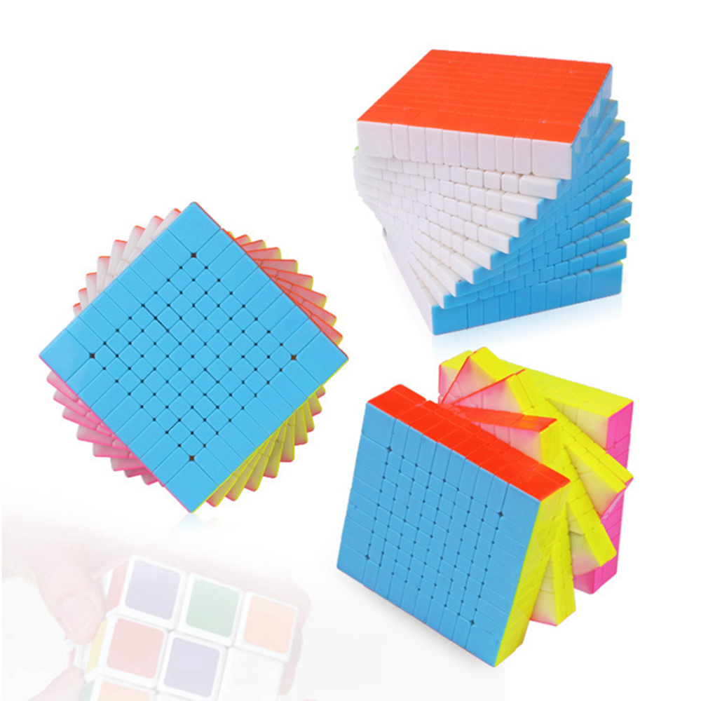 Brand New Yuxin HuangLong 10x10x10 Magic Cube Speed Puzzle Cubes Educational Toys For Kids Children verrypuzzle clover dodecahedron magic cube speed twisty puzzle megaminx cubes game educational toys for kids children