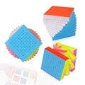 Marca Nuevo Yuxin HuangLong 10x10x10 Cubo Mágico Speed Puzzle Cubos Juguetes Educativos Para Niños de Los Niños