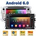 "7 ""Quad Core 2 ГБ RAM 4 Г LTE SIM WIFI Android 6 Автомобильный DVD Player Радио Стерео Для Ford Mondeo S-MAX Galaxy Tourneo Connect Фокус 2"