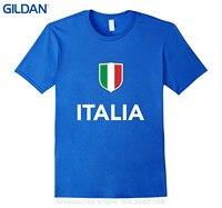 GILDAN Marque Coton Hommes Vêtements Homme Slim Fit T Shirt Italie Italien Footballeur Soccerite T-shirt