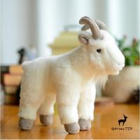 Cute Stuffed Animal Doll Children'S Toys Christmas Gift North American Mountain Goat Dolls Plush Toy Simulation Snow Sheep