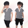 Summer School Uniforms Children New Cotton Short Sleeved Kindergarten Class Size Suit Student Uniforms Suit