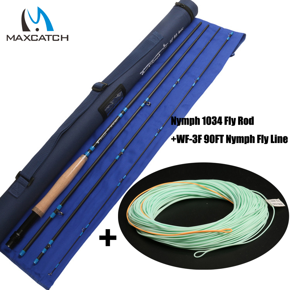 где купить Maxcatch 3wt Nymph Fly Fishing Rod &Nymph Line Combo 10FT 4pcs Fast Action Fly Rod по лучшей цене