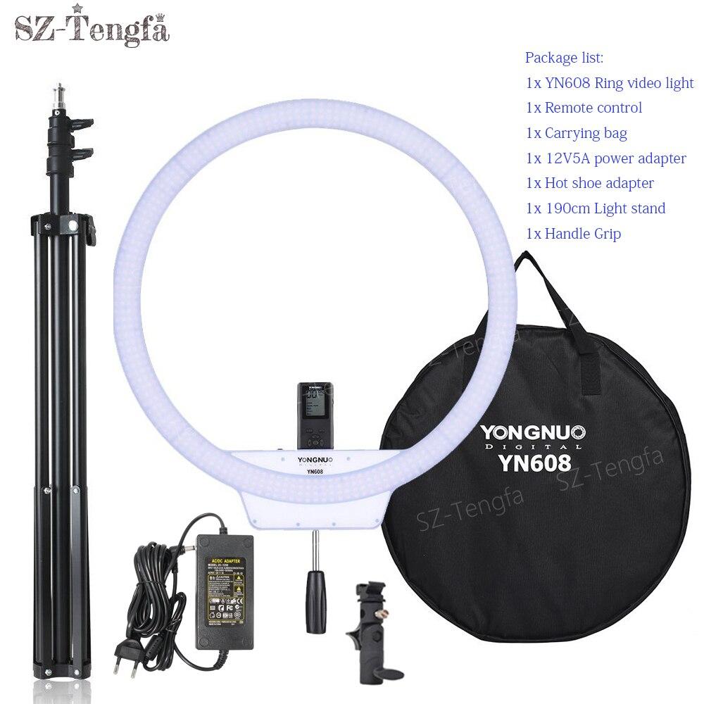 YongNuo YN608 Ring LED Light 3200K-5500K Bi-Color Temperature And 5500K Wireless Remote LED Video Light