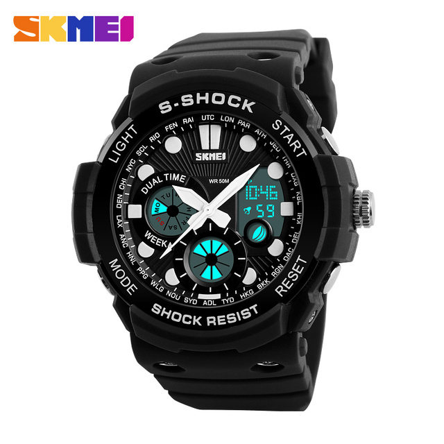 SKMEI Brand S-Shock Men Sport Watches New 2016 Men Quartz Digital Watch Outdoor Military Shockproof Waterproof Wristwatches