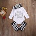 Новорожденный Inf младенческой девочка комплект одежды боди С Длинным Весна марка новорожденный ребенок девушка установленные одежды bebe костюм первый день рождения