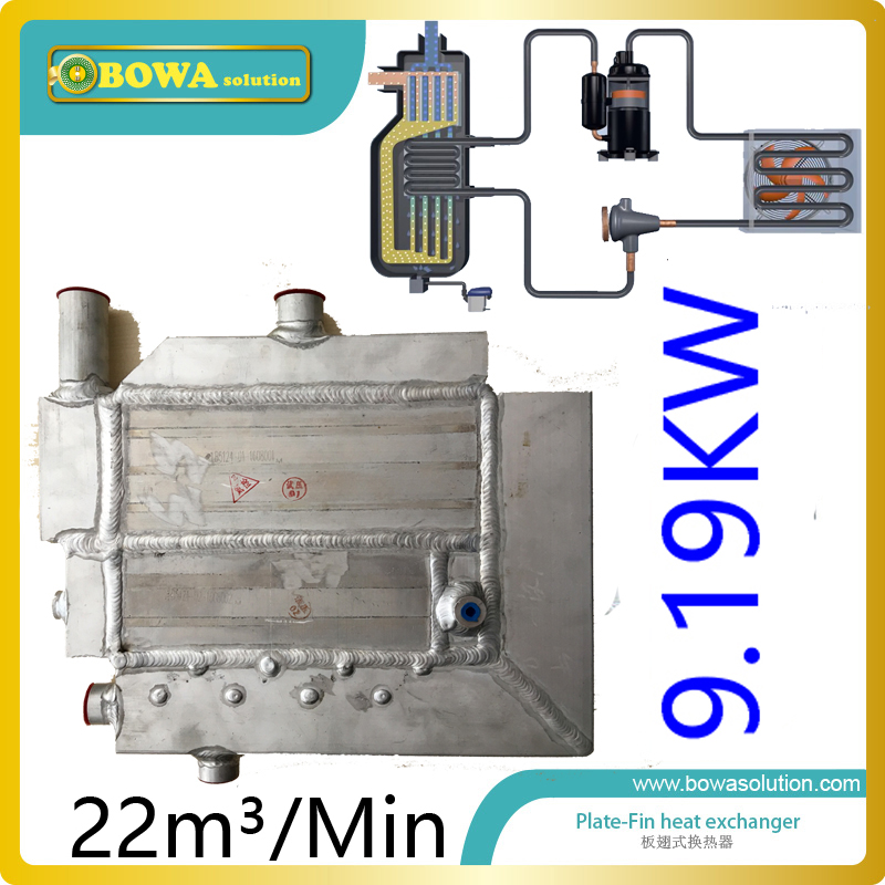 22m3/minute (9.2KW cooling capacity)  heat exchanger with water drain for freezer dryer machine replace Ingersoll-land unit