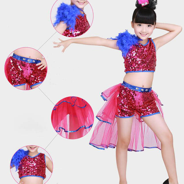 91396bc1d Online Shop Children Jazz Dance Clothing Sets Girls Modern Stage Dance  Costume Sequined Kids Korean Hip Hop Ballroom Performance Clothing |  Aliexpress ...