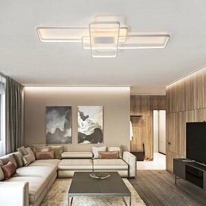 Image 4 - Mando a distancia rectangular, luces de techo Led modernas para sala de estar, dormitorio, hogar, AC85 265V, blanco/negro, accesorios de lámpara