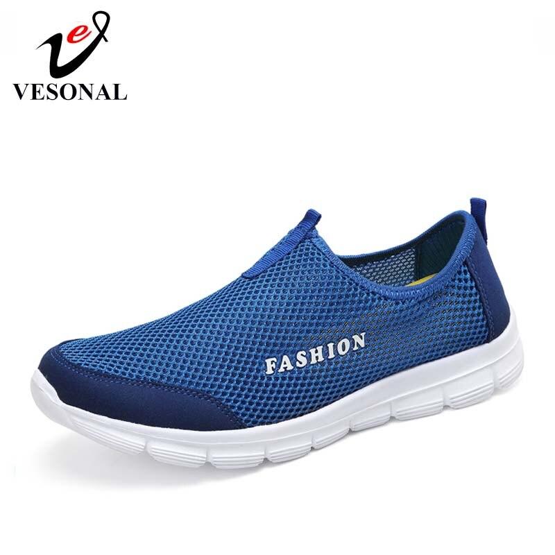 Maglia Sneakers Scarpe blu Leggeri mocassini leggera estiva traspiranti leggera comode unisex Casual Nero scuro per Vesonal uomini Walking blu 2019 grigio ardesia Y85q44