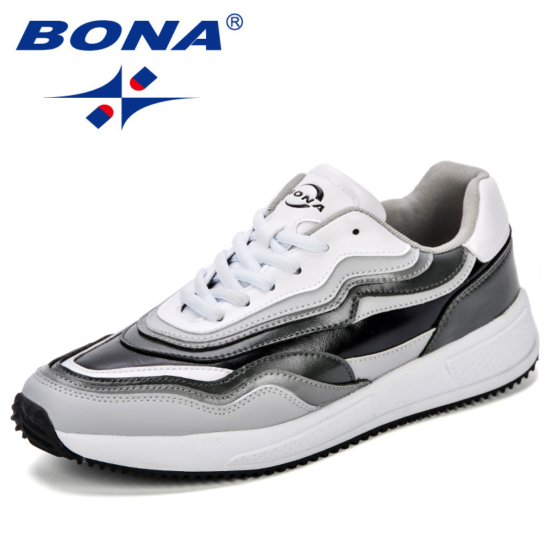 BONA Men Shoes Lightweight Sneakers Breathable Lace Up Casual Shoes Comfortable For Adult Fashion Footwear Zapatillas