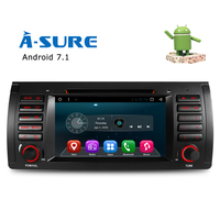 A Sure Car DVD Player Android 7.1 QuadCore GPS Navigation 7 for BMW E39 5 Series/M5 X5 E38 with BT/Radio/SWC/USB/SD/4G/WIFI