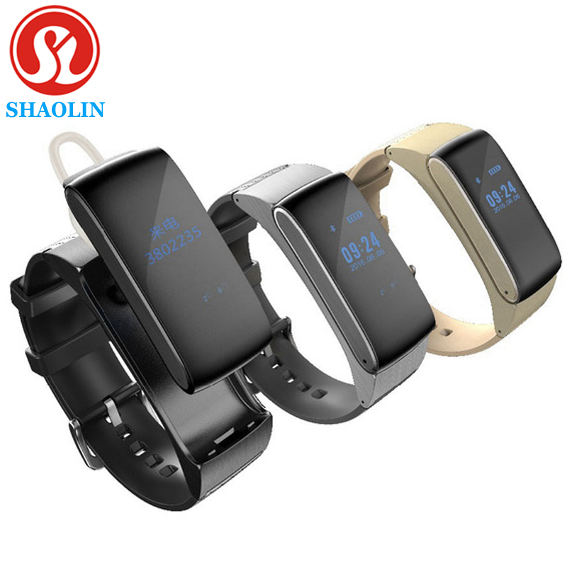 SHAOLIN Smart Band Talkband Bluetooth Smart Bracelet DF22 Portable Talk Smartban