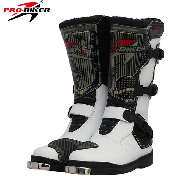 Stivali Lunghi Racing Scarpe Pelle Moto Biker Pu Off Motocross Pro ATwqCSq