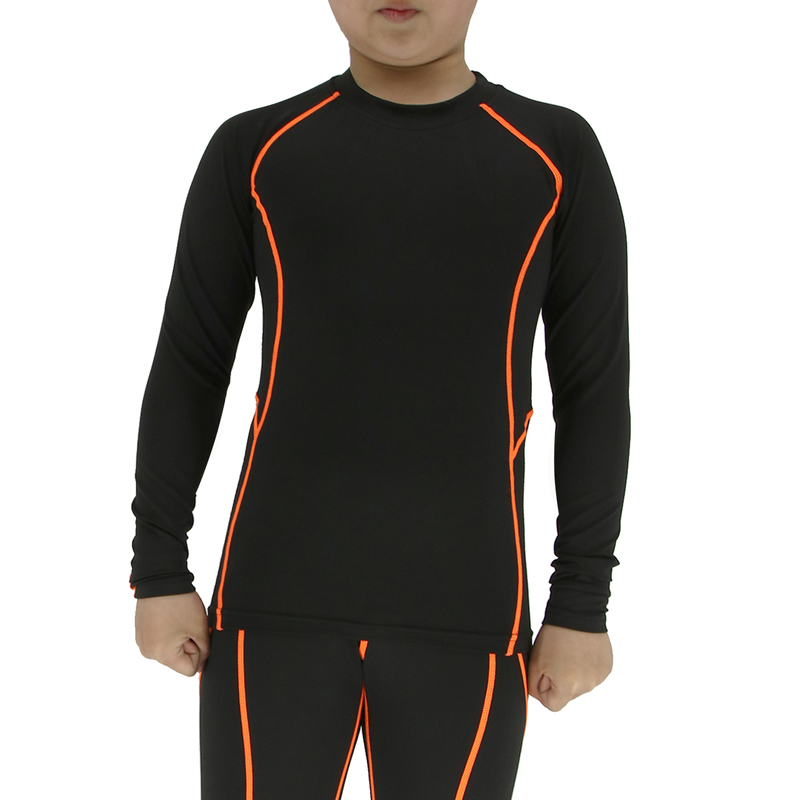 Niños camiseta de compresión de secado rápido transpirable niño capa base  ejecutando camisas survetement formación Deportes Fútbol Delgado tops Y50 67032b0285fb1