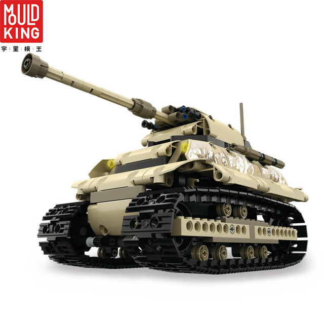13011 rc tank remote control ww2 crawler tank model building blocks city technic military wars tank lepin™ land