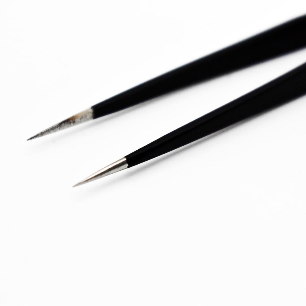 1Pc VETUS ESD-10 Tweezers Safe Anti-static BGA Precision Electrostatic Tweezers