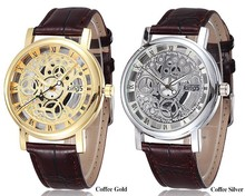 Kings Brand Hollow Skeleton Gold Silver Steel Business Watch Men sports Quartz Wristwatch Clock Male Watch