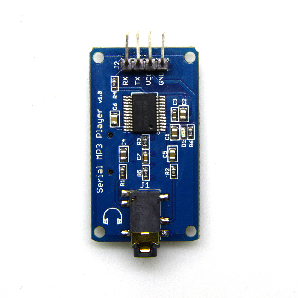 YX6300 UART TTL Serial Control 3.2-5.2V MP3 Music Player Module Support Micro SD/SDHC Card For Arduino