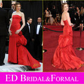 Anne Hathaway Vestido en 2011 Oscar de la Alfombra Roja de La Sirena Sin Tirantes de Tafetán vestidos de La Celebridad de Noche Formal Del Vestido