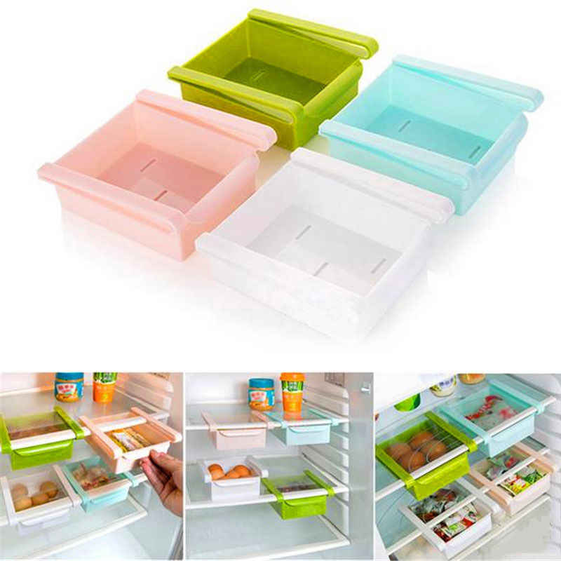 Refrigerador fresco espaciador capa multiusos estante de almacenamiento creativo suministros de cocina tipo caja de guantes
