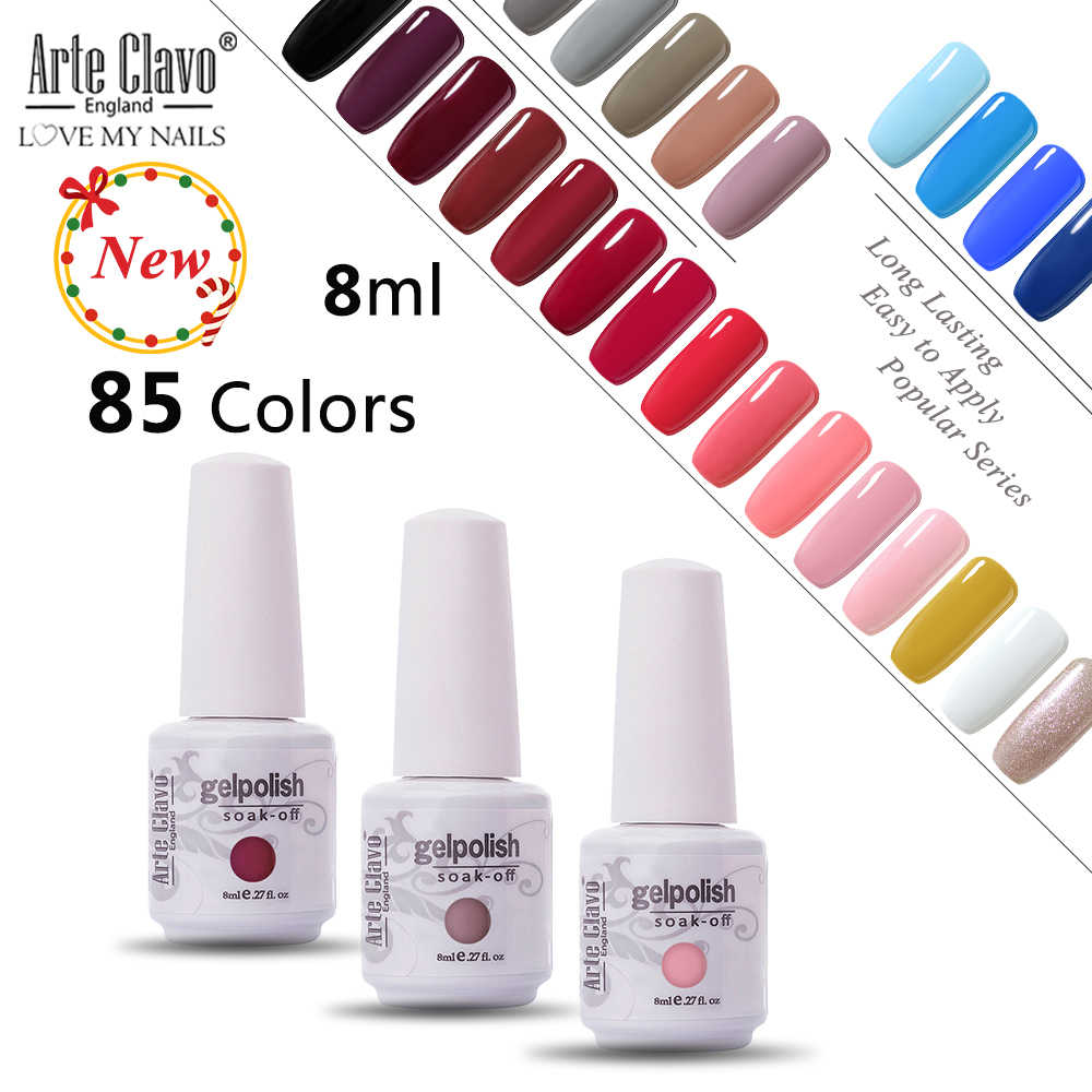 Seni Clavo Gel Varnish Cat Kuku UV Hybrid Kuku Seni Manikur Kuku Ekstensi 8 Ml Vernis Semi Permanen Primer Gel cat Kuku