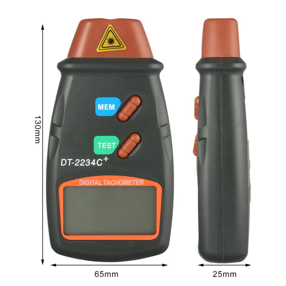 Herramienta de diagnóstico Tacómetro láser digital Medidor de RPM - Instrumentos de medición - foto 5