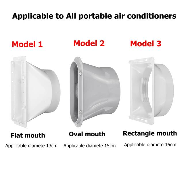 Number 3 Portable Air Conditioner Spare Parts Flat Mouth Mobile Air Conditioning Special Exhaust Pipe Flat Mouth Interface Air Conditioning Pipe Connector for Midea