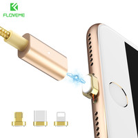 FLOVEME 3 in 1 Magnetic Charging Cable For iPhone Micro USB / Type C / Lighting Fast Magnet Charger Cable Cabos USB-C Type-C 1M