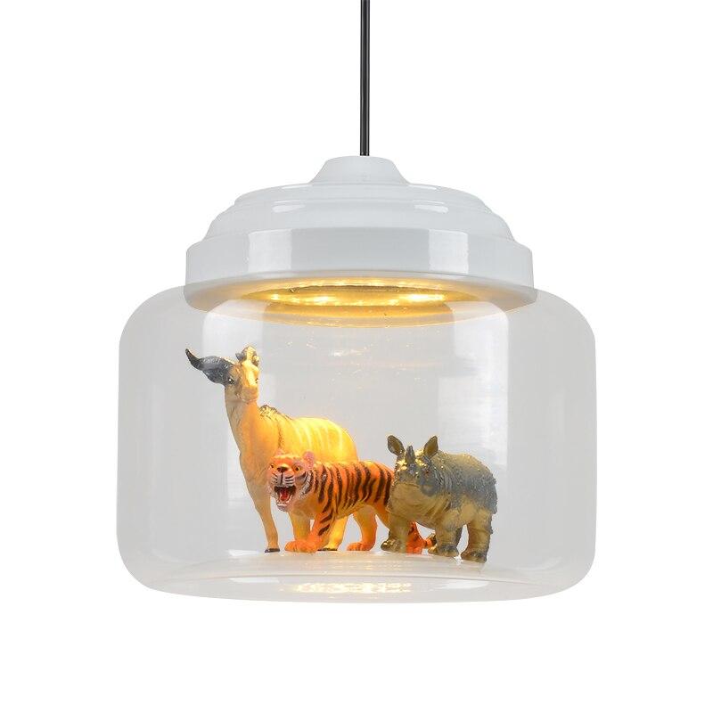nordic enkele hoofd moderne 3 ren glazen hanglamp