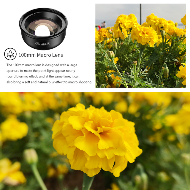 APEXEL HD optic camera phone lens 100mm macro lens super macro lenses for iPhonex xs max Samsung s9 all smartphone 2