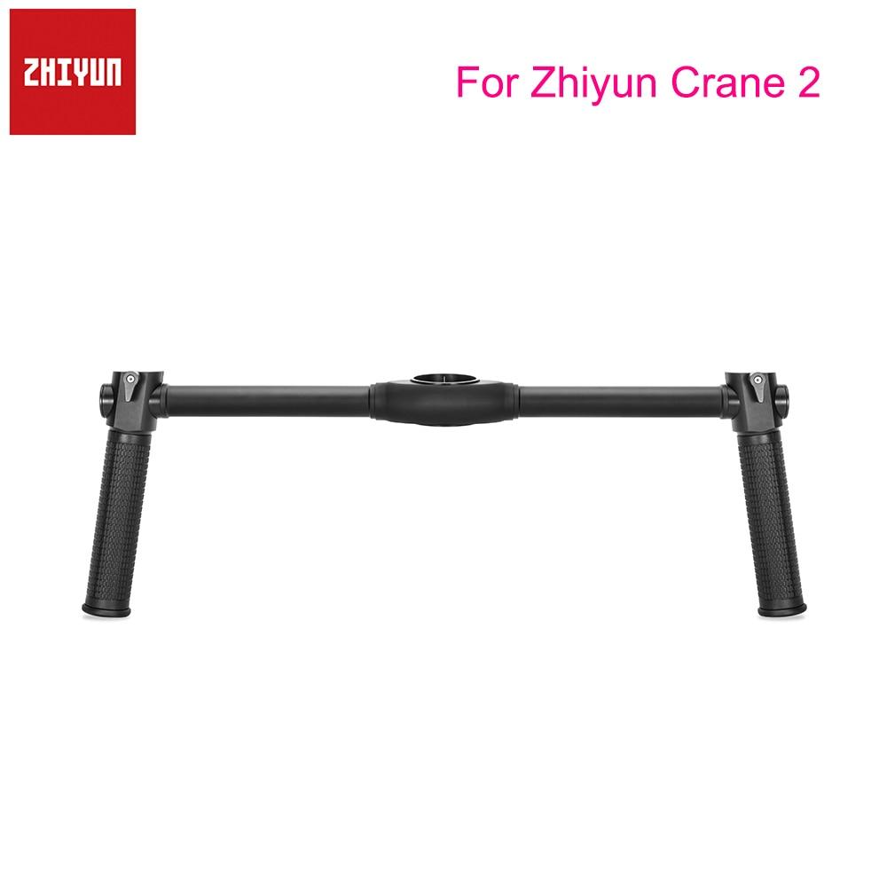 Zhiyun Dual Handheld Grip for Zhiyun Crane 2 Gimbal Stabilizer Extended Handle zhiyun mini dual grip transmount single handle grip l bracket rig 1 4 screw connector for zhiyun crane series gimbal stabilizer