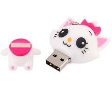 100 teile/los Cartoon Nette katze modell USB-stick 8 GB 16 GB 32 GB 64 GB pen drive usb stick auf schlüssel angepasstes logo geschenk usb