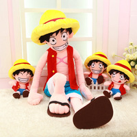 Free Shipping Anime One Piece 40cm Monkey D Luffy Soft High Quality Plush Stuffed Toys For
