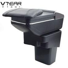 Vtear Para Hyundai Solaris/Verna/Grand Avega caixa Armazenar conteúdo caixa apoio de braço central suporte de copo cinzeiro do carro- styling Acessórios