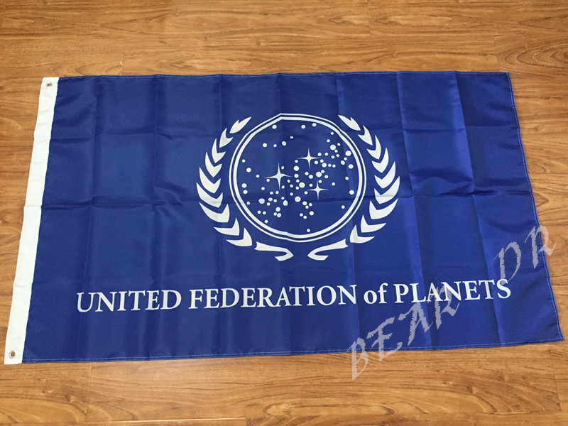 Star Trek United Federation of Planets Banner Flag 3X5FT Country Flag National Flag