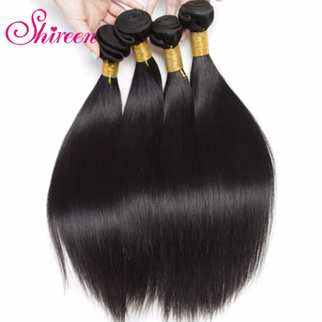 Malaysian Straight Hair 3 Bundles Deal 8 26 Inches Double Weft Non Remy Human Hair Straight Weave Bundles Hair Extensions by Shireen