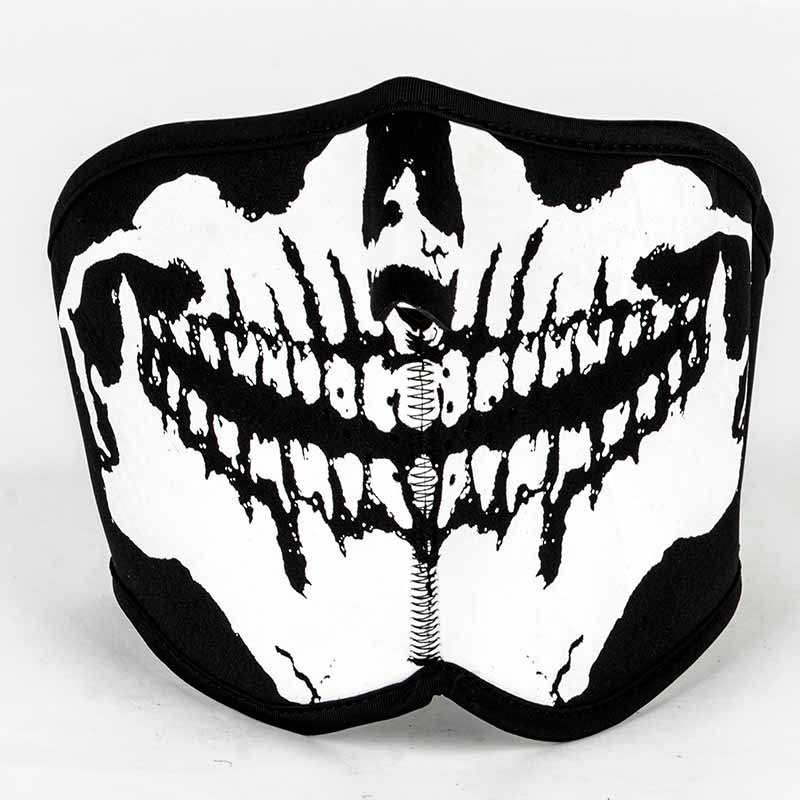 2017 Cycling Motorbike Neoprene Half Face Sport Biker Skateboard Motorcycle Scary Reversible Skull Mask 5 Style