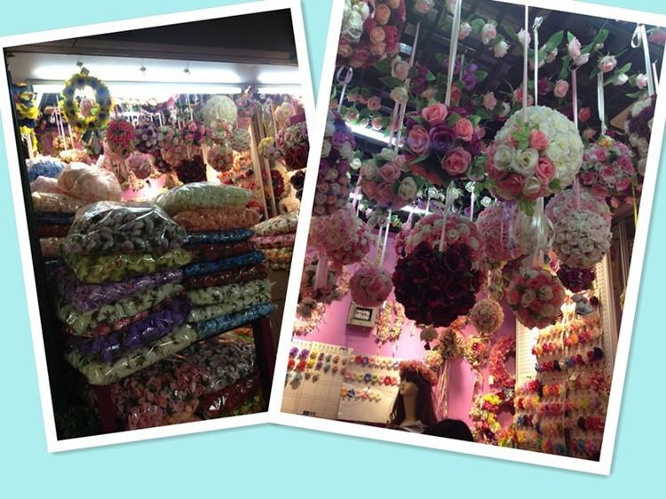 Factory Direct Sale!!! 6inch (15cm) Dense Wedding Kissing Balls Pomanders Artificial Silk Flower Balls For Weddings 9 Colors