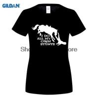 GILDAN Women T Shirt I Do All My Own Stunts Horse WOMENS T SHIRT Ride Funny