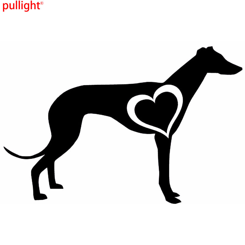 15*10CM GREYHOUND LOVE HEART Vinyl Decal Creative Fashion Car Styling Decorative Stickers
