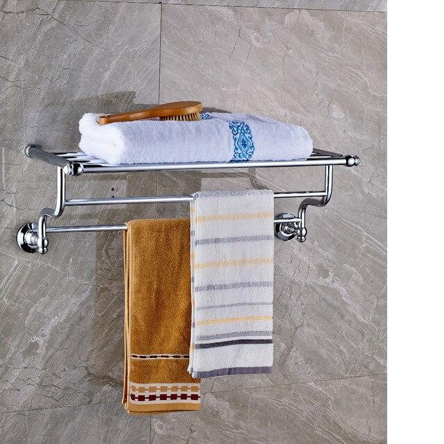 Luxus Chrom Poliert Badezimmer Handtuchhalter Regal Dual ...