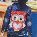 Corea 2017 primavera chaquetas para niñas ropa de bebé de la manera denim abrigos para niños jeans niños cardigan chaquetas traje