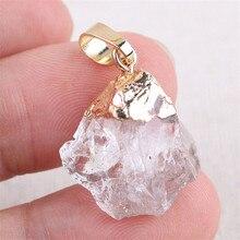 лучшая цена Crystal Pendant DIY Quartz Healing Point Chakra Gem Stone Pendant for Necklace colors free shipping