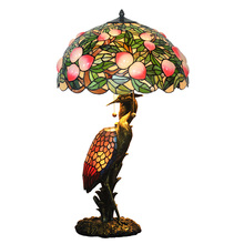 Nordic Stained Glass Art Deco Home Decorative Large Chinese Vintage Table Lamp Light Luxury For Living Room Bedroom Restaurant