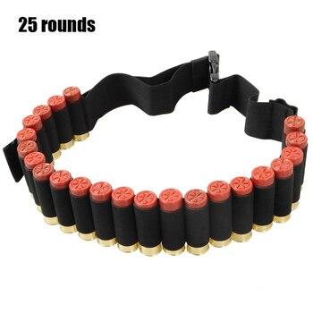 25/50/56 Rounds 12/20GA Ammo Holder Belt Airsoft Bandolier Cartridge Tactical Shot gun Shell Waist Belt Bullet Holster Carrier 2
