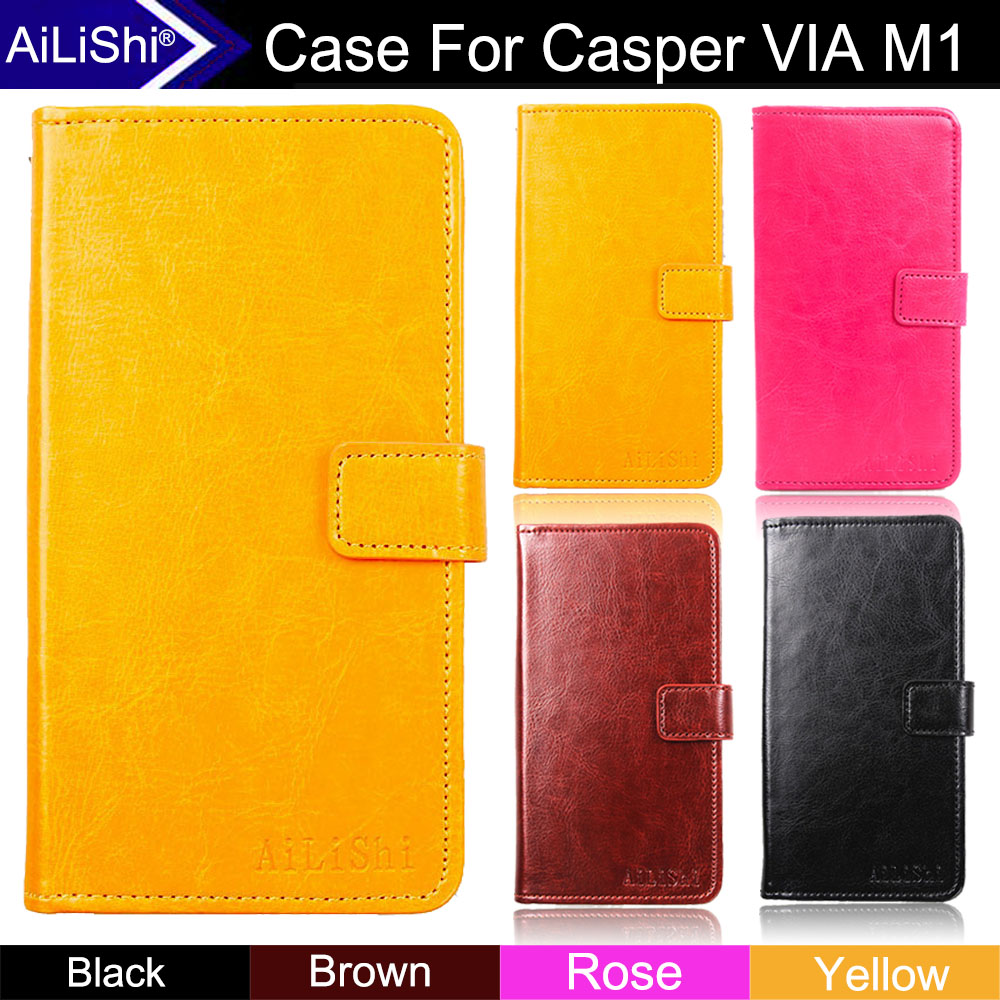 AiLiShi Factory Direct! Case For Casper VIA M1 Luxury Flip Fashion PU Leather Case Cover Phone Bag Wallet Card Slot +Tracking image