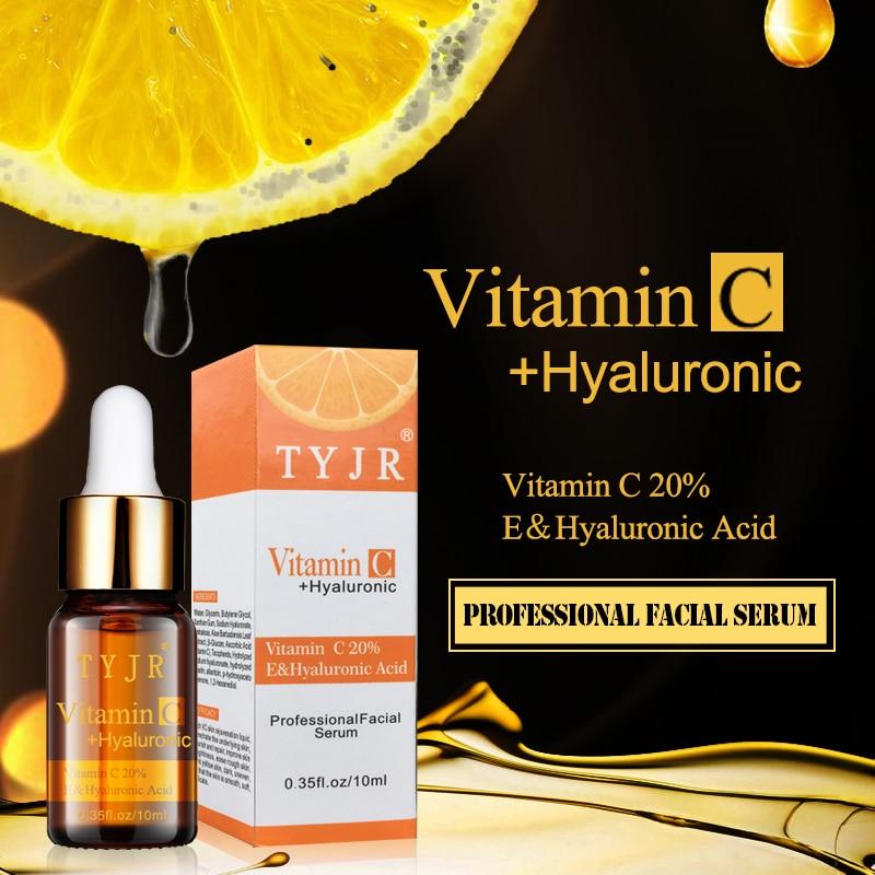 Natural 20% Vitamin C Serum with Hyaluronic Acid Vitamin E Best Organic Anti Aging Anti Wrinkle Serum Moisturizer for Face Neck